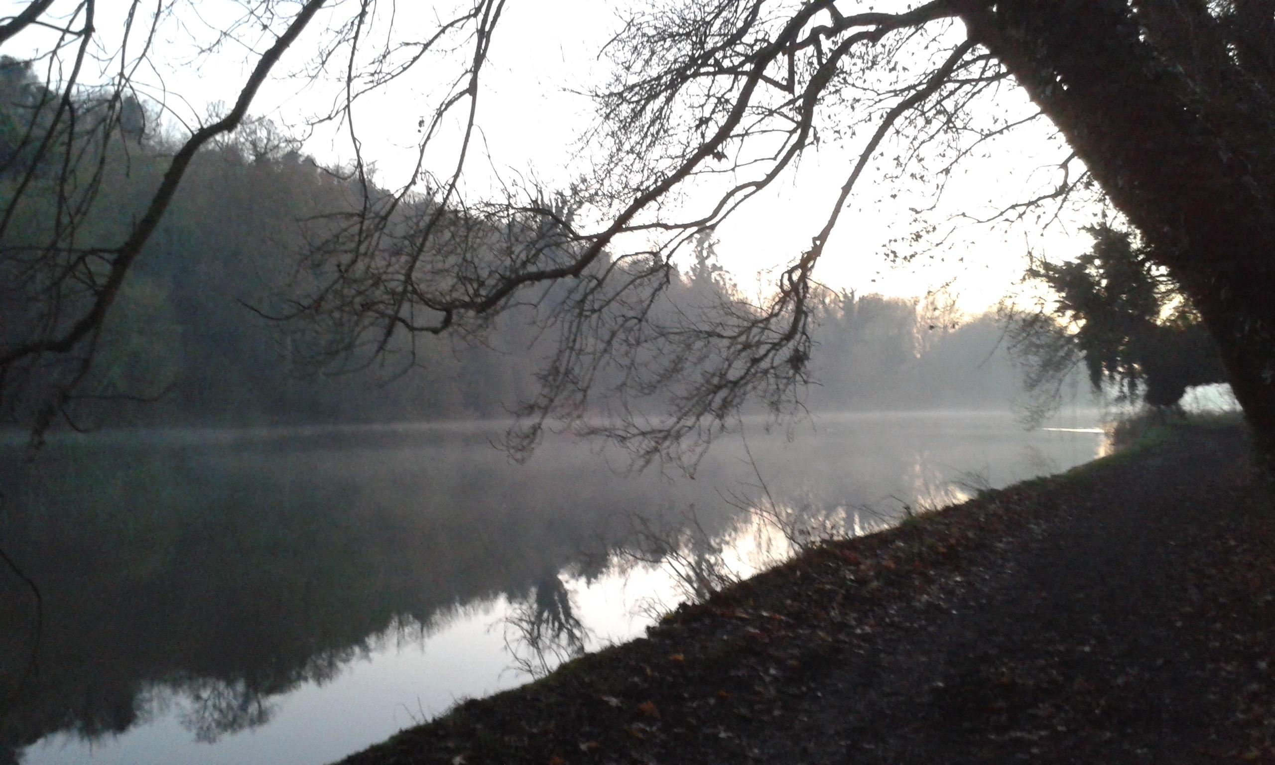 A foggy River Thames