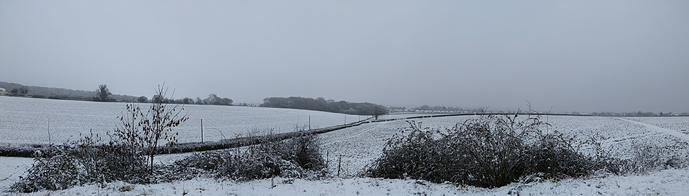 Snowy day in Pinkneys Green