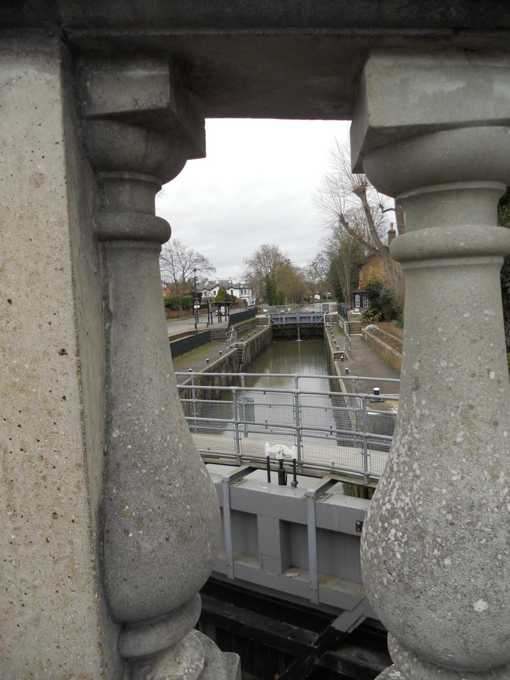 Boulters Lock through the bridge