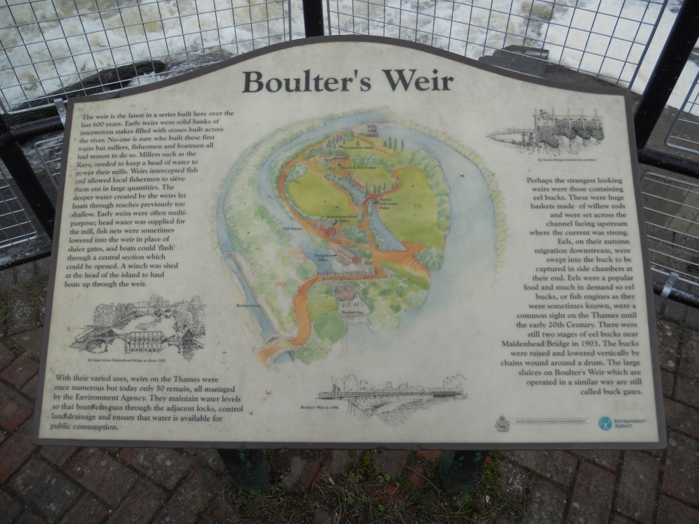 Boulters Weir sign