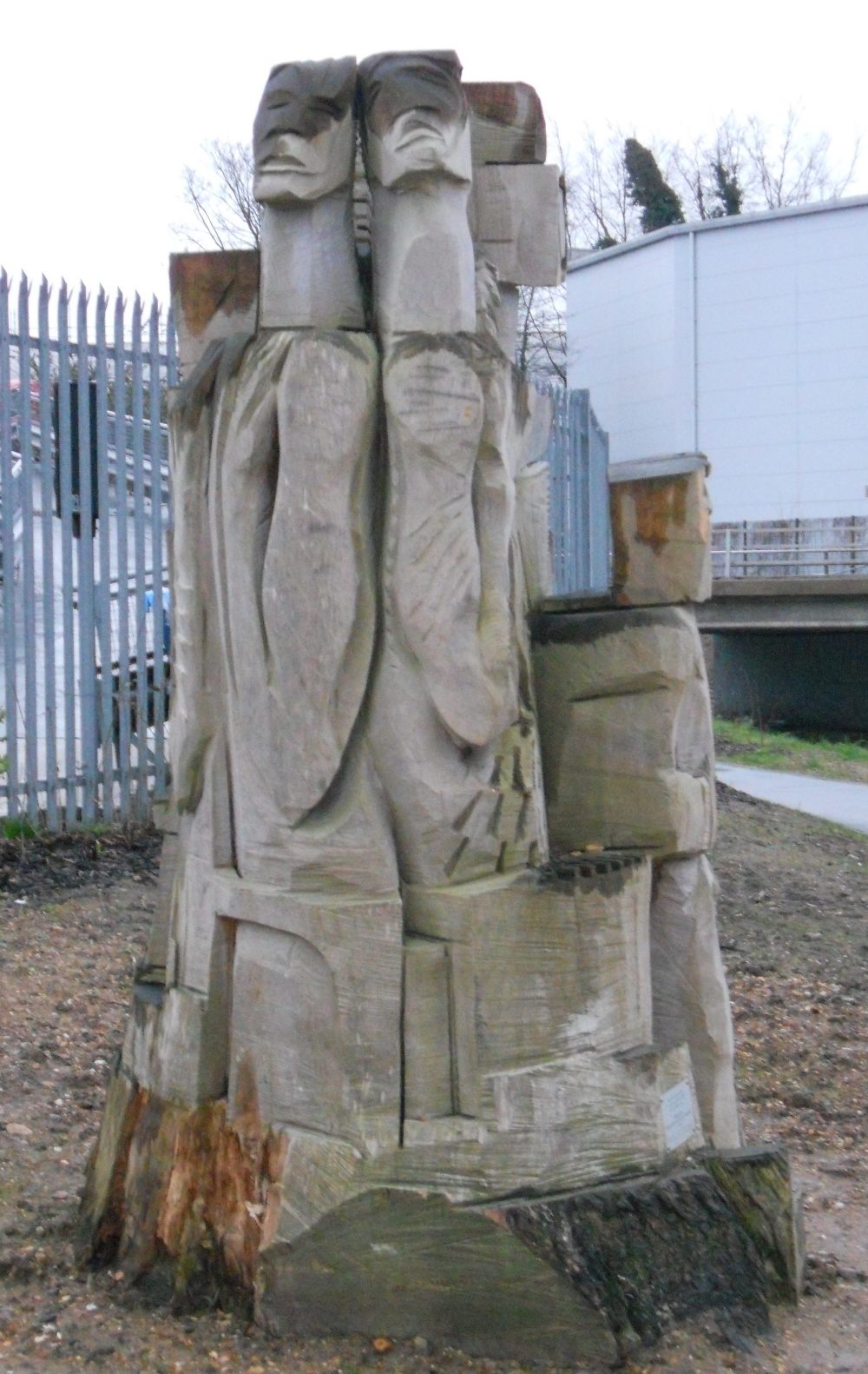 """Wood carved statue - """"Guardians of the green way"""""""
