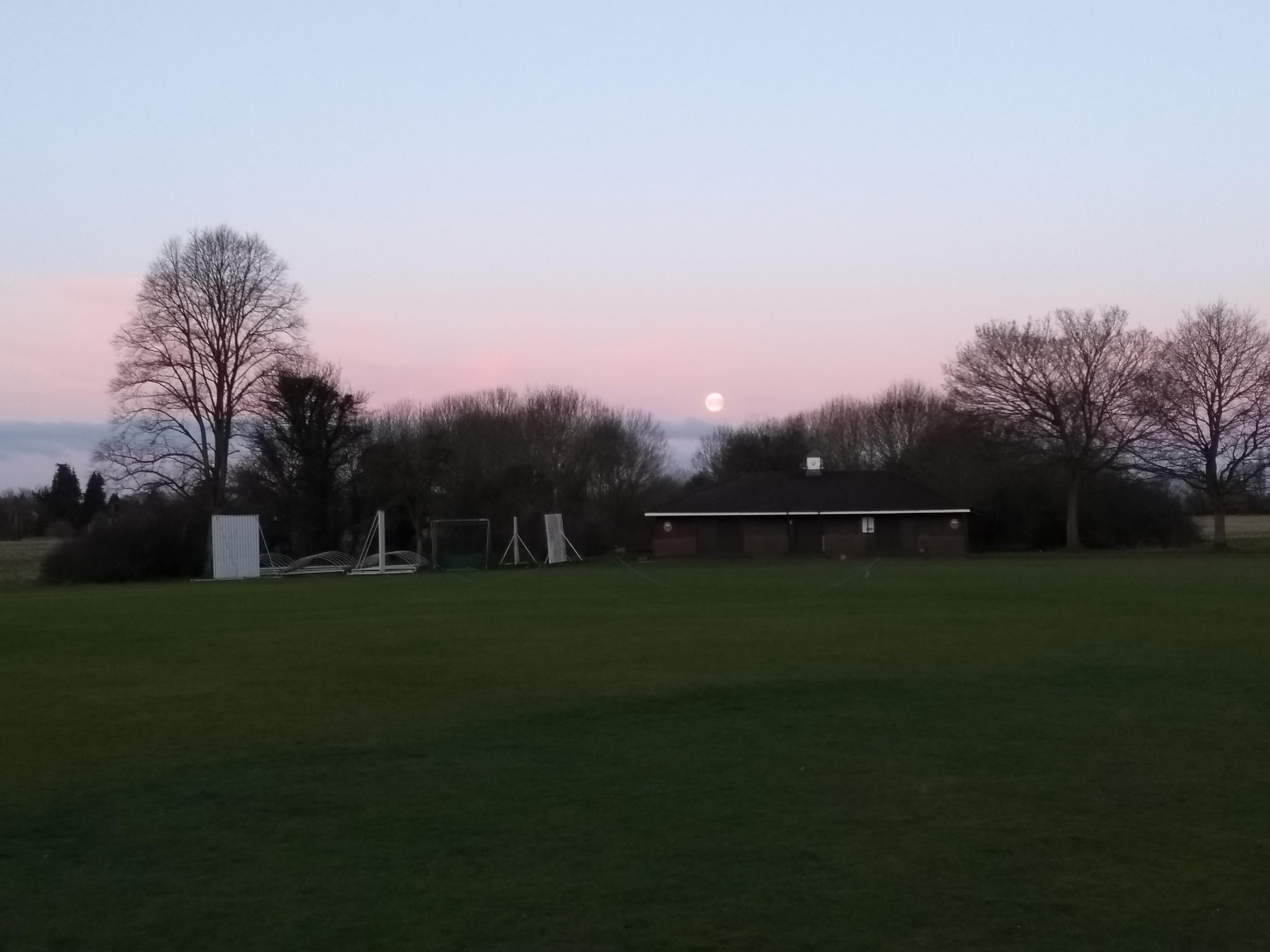 super moon over Pinkneys Cricket Club