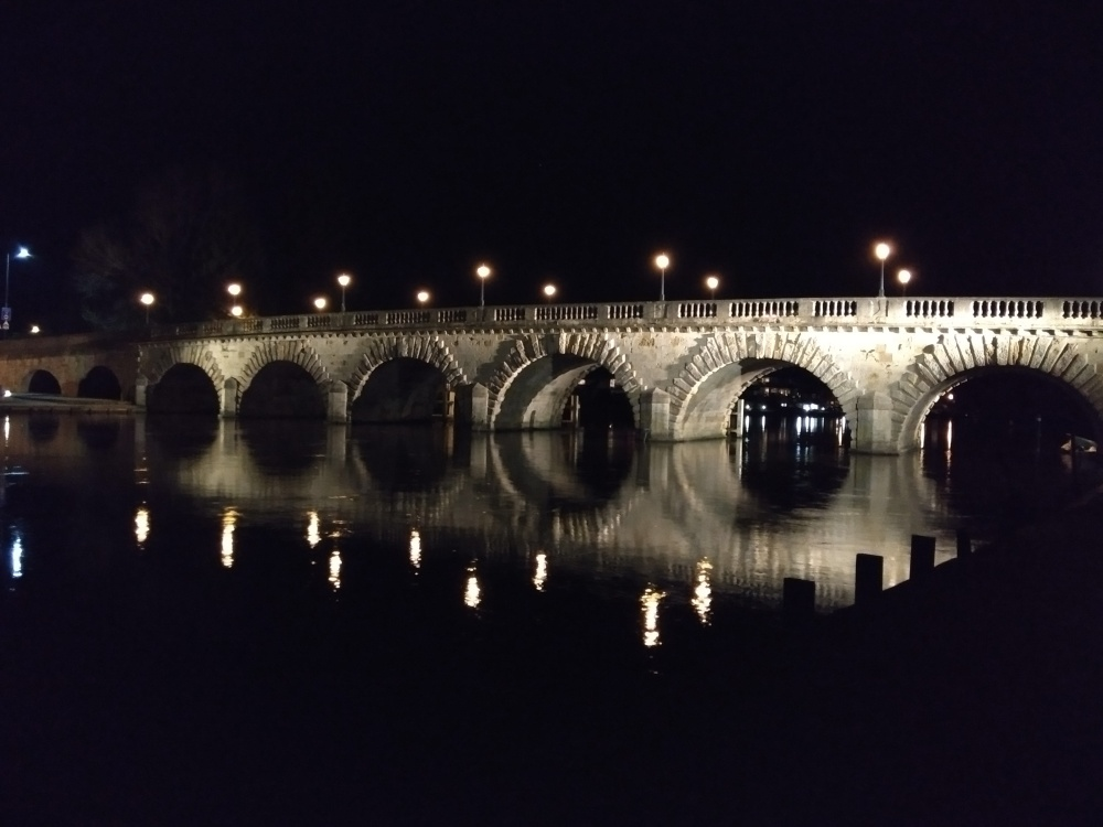 Reflections of Maidenhead Bridge in the Thames