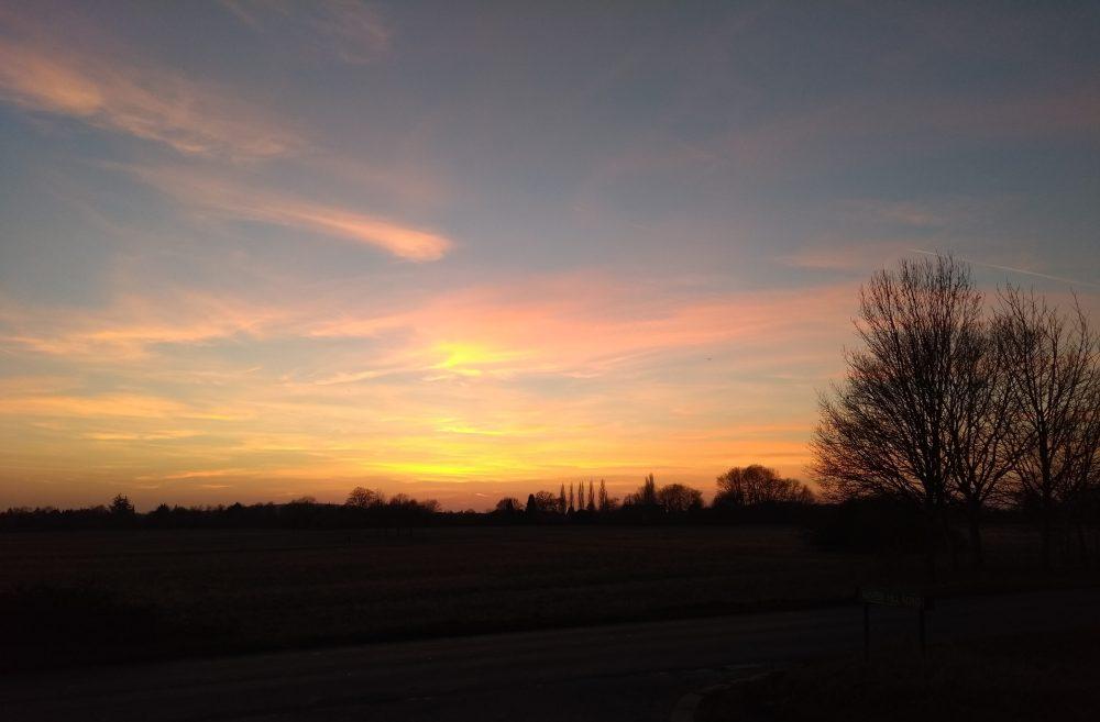 Winter Sunset at Pinkneys Green