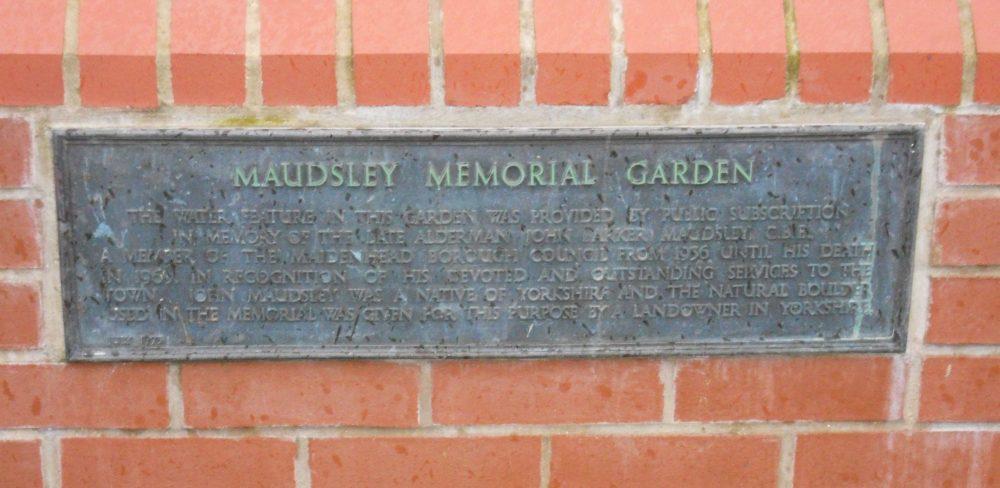 Maudsley Memorial Garden sign