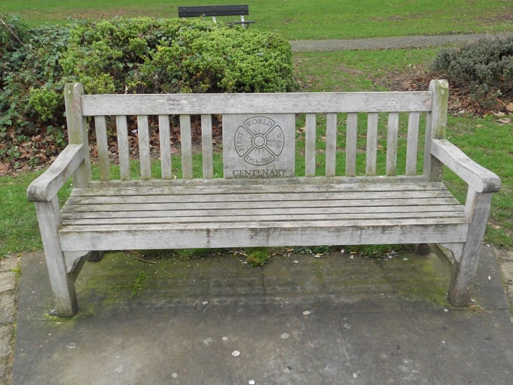 World War One Memorial seat