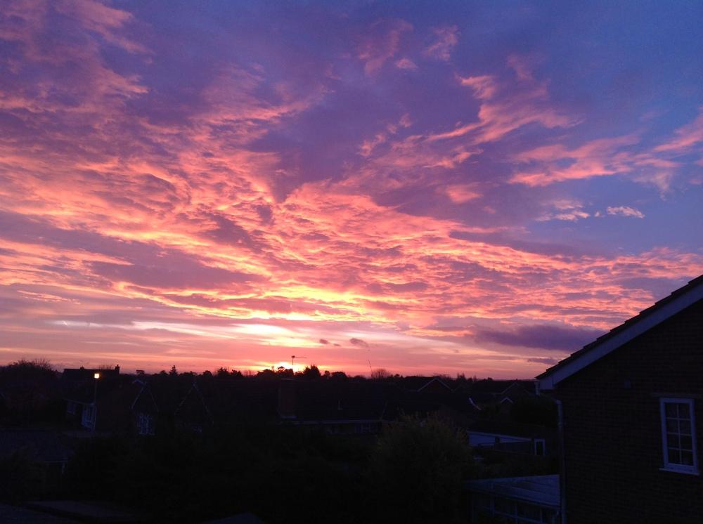 Early morning sunrise over Maidenhead