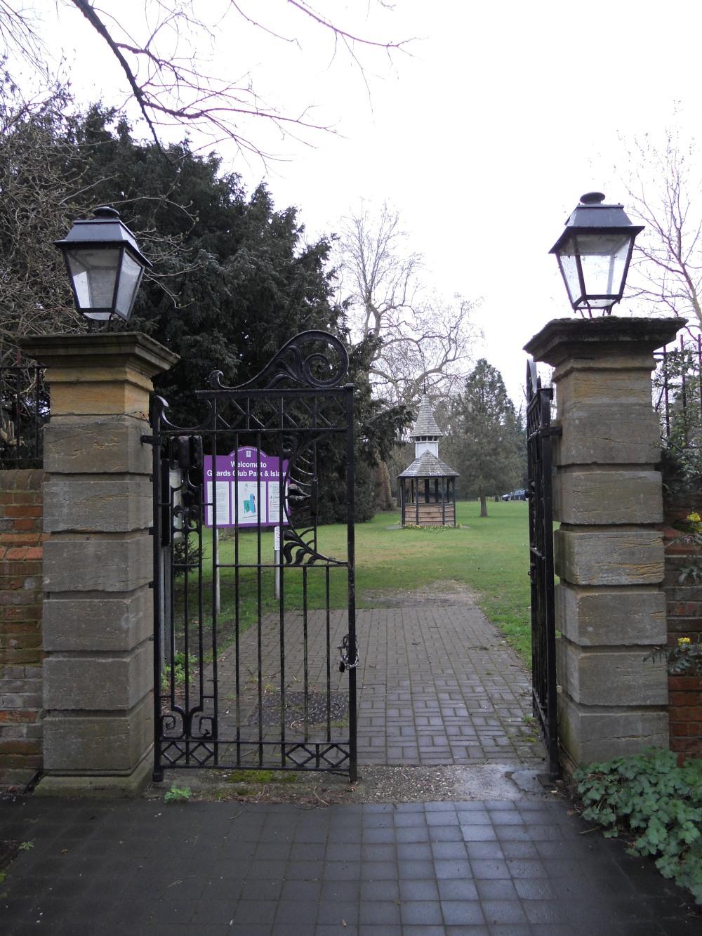 Entrance to Guards Club Park