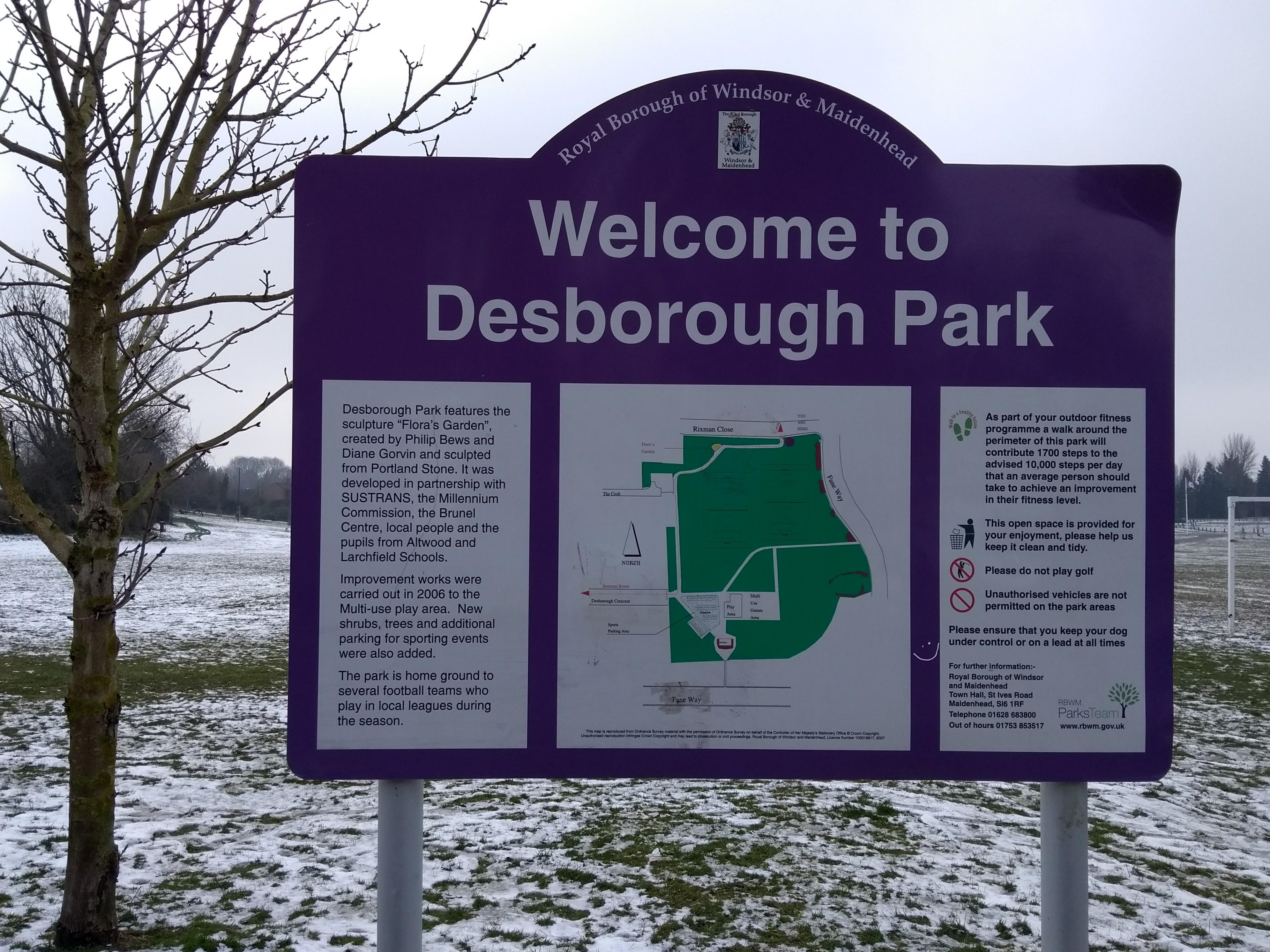 Welcome to Desborough Park