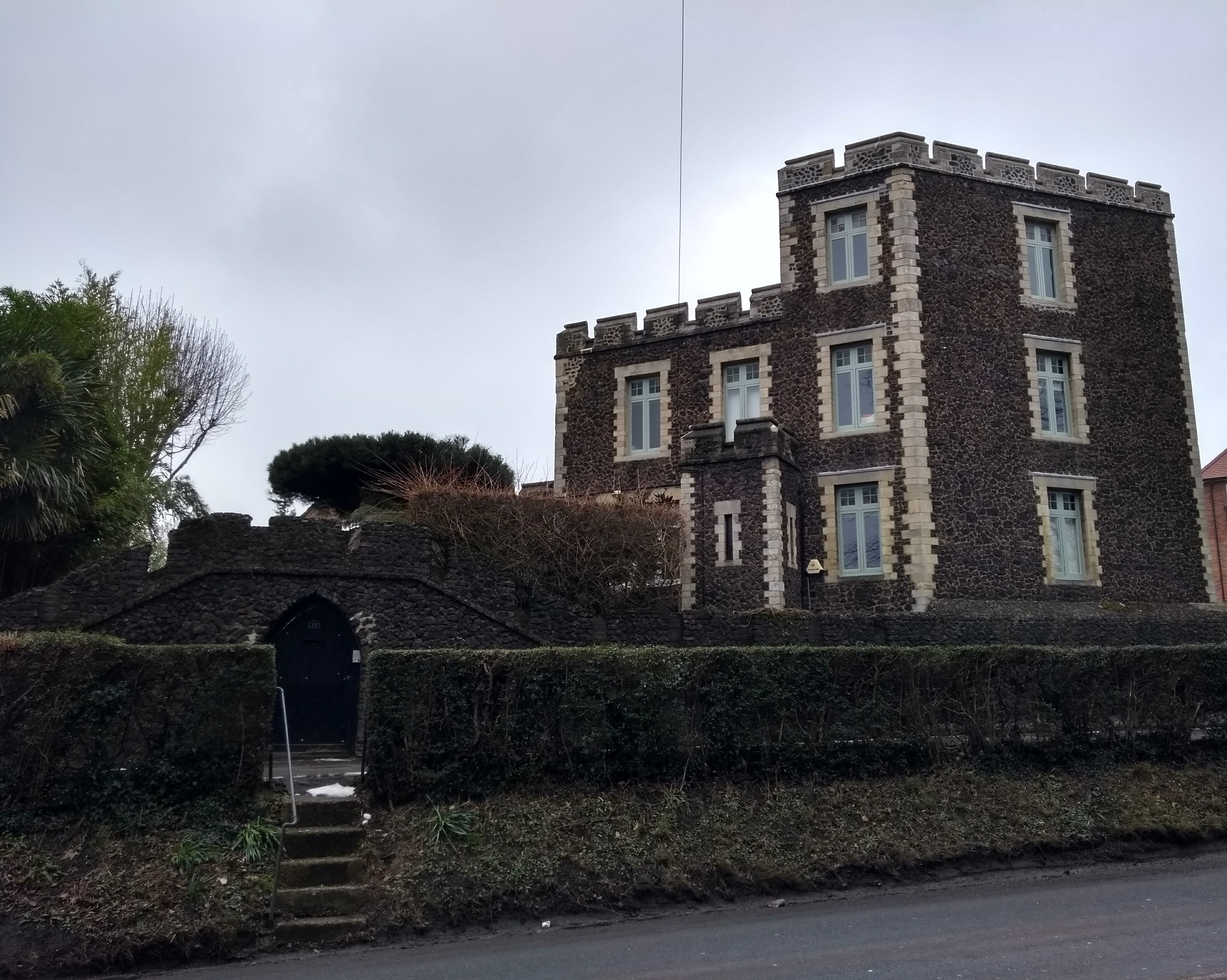 The castle-like building on Castle Hill