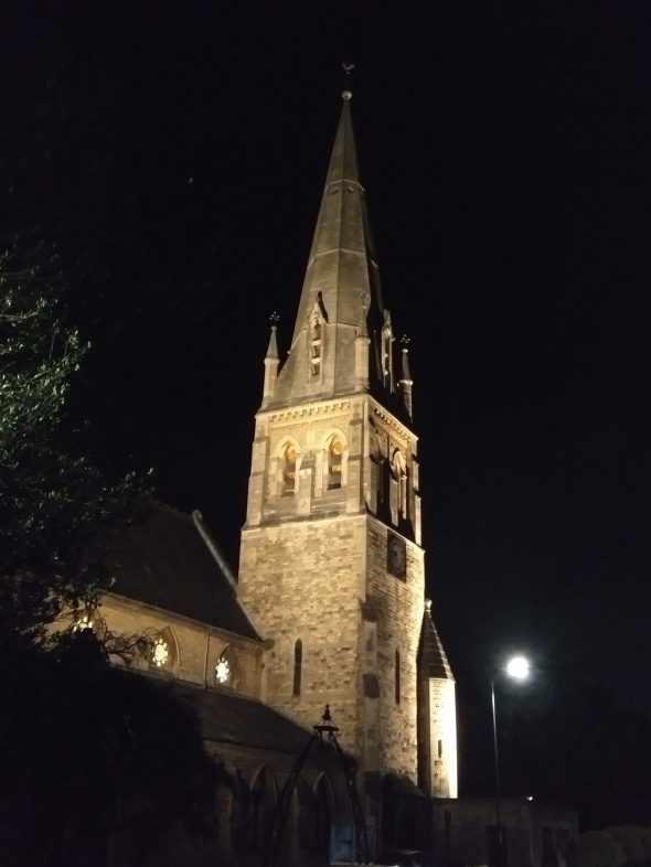 St Luke's Church by night
