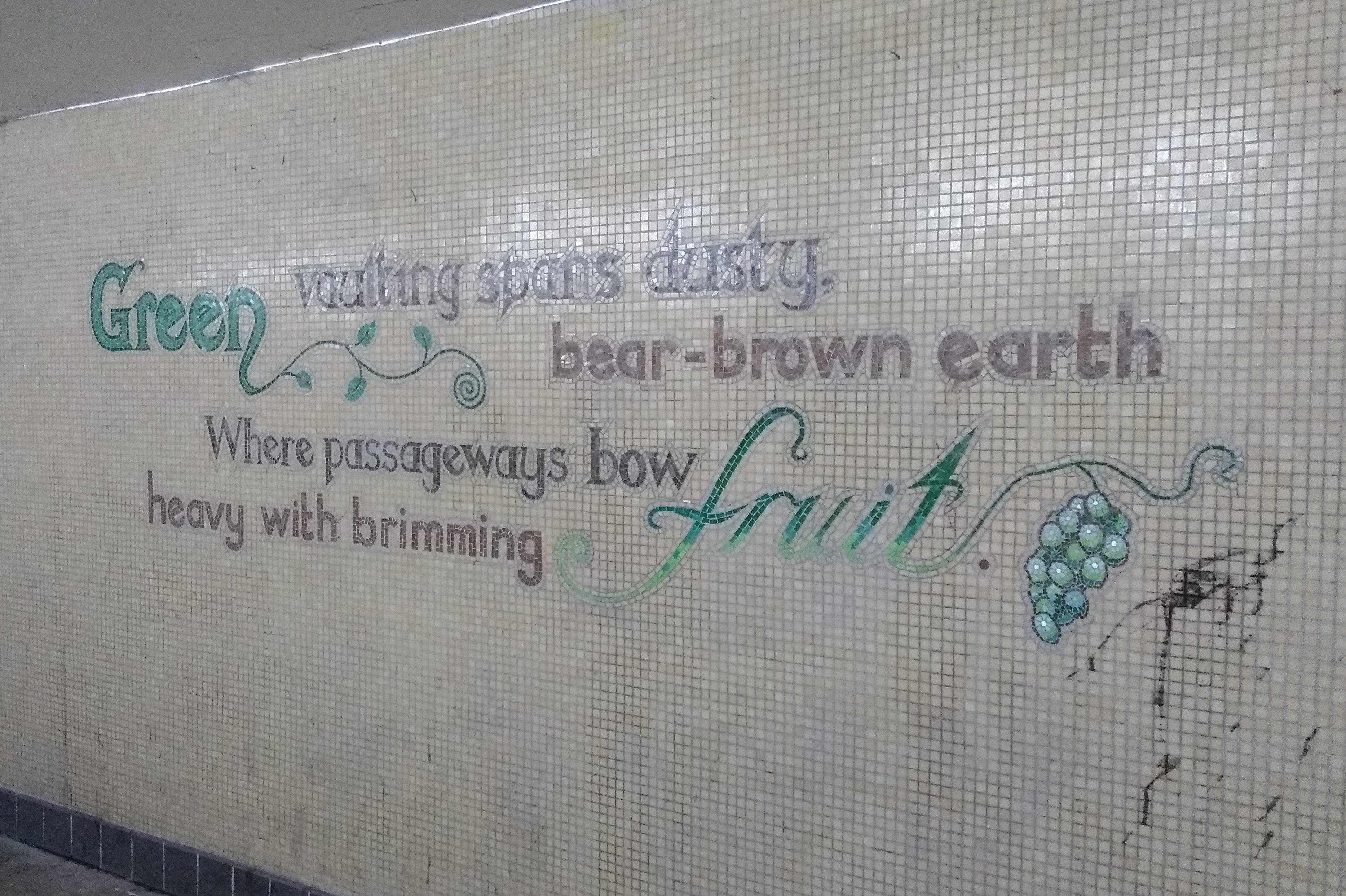 underpass street art brimming fruit