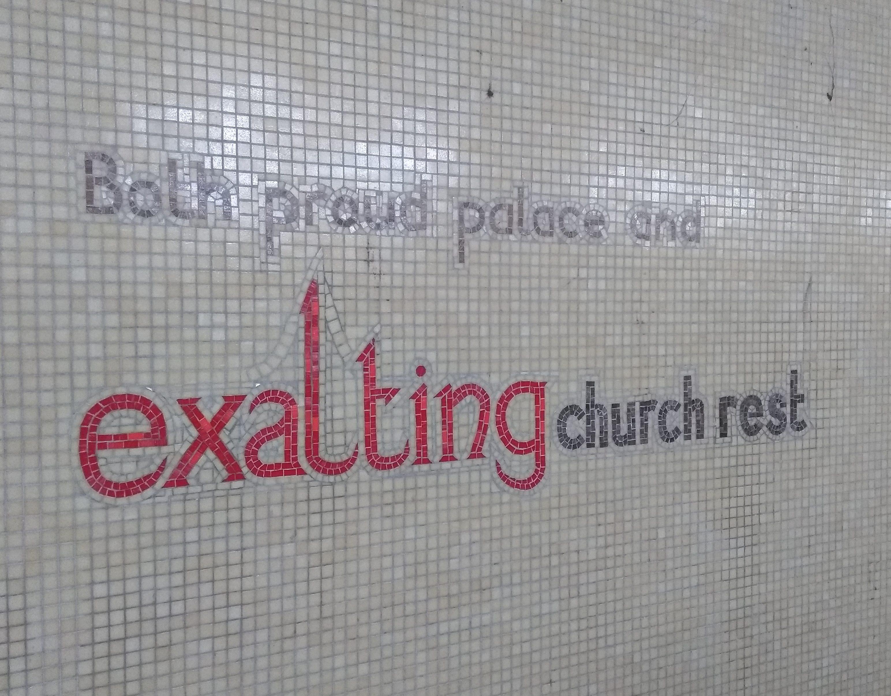 underpass street art exalting church