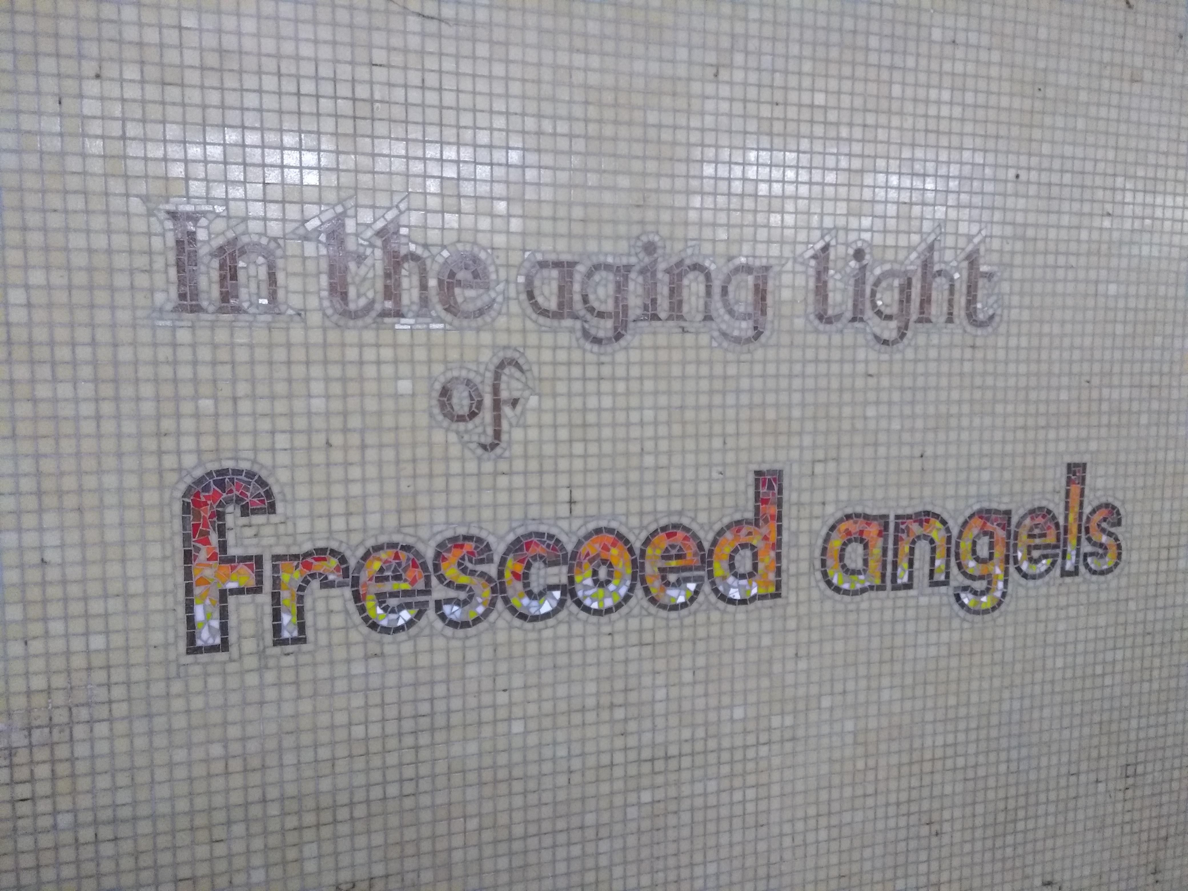underpass street art frescoed angels