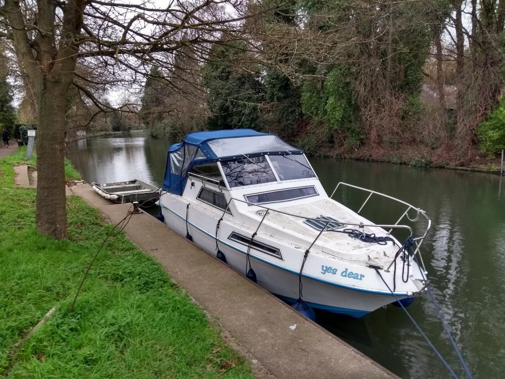 "Boat moored up beside Boulters Lock ""yes dear"" !"
