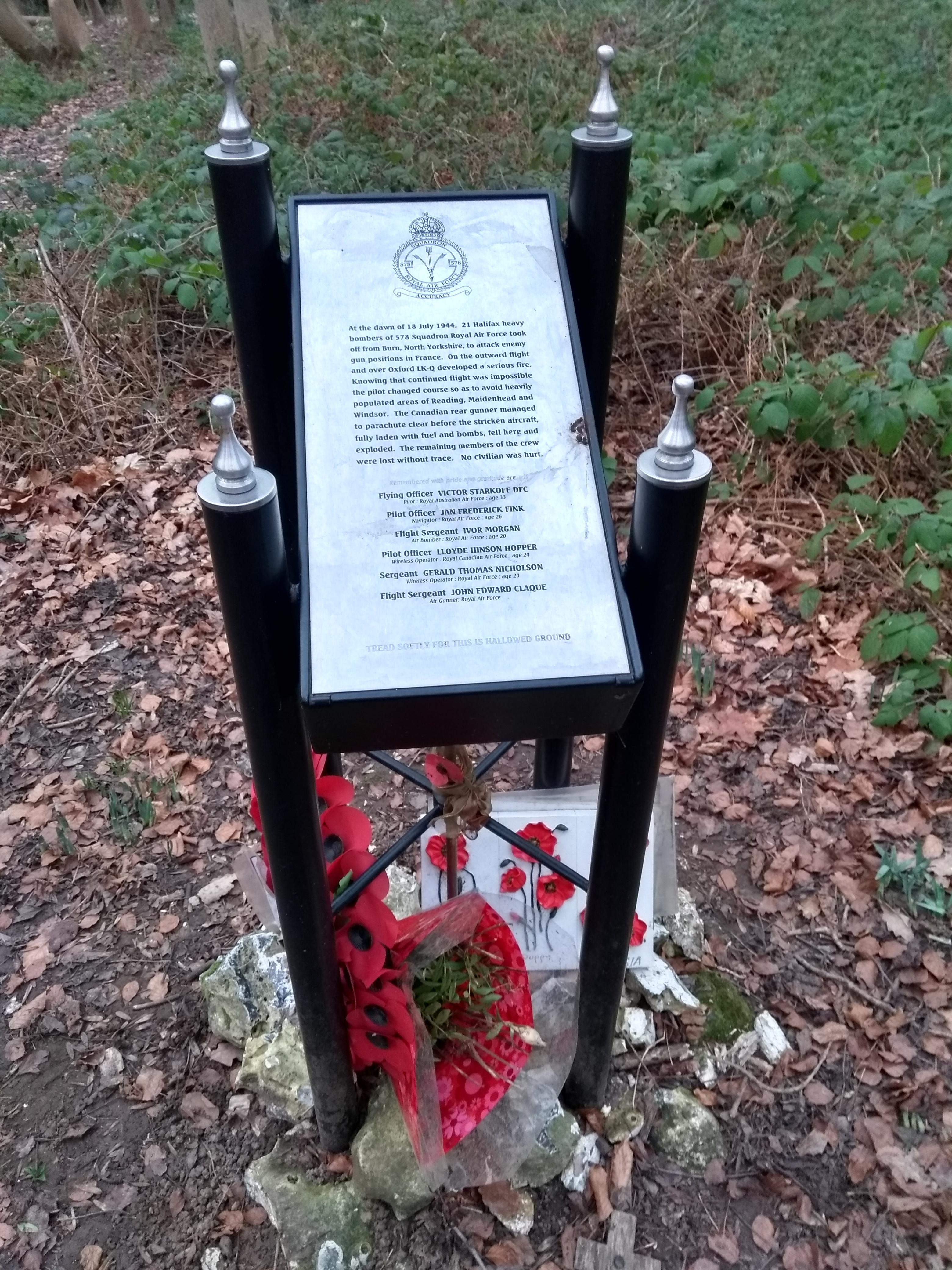RAF memorial Plaque