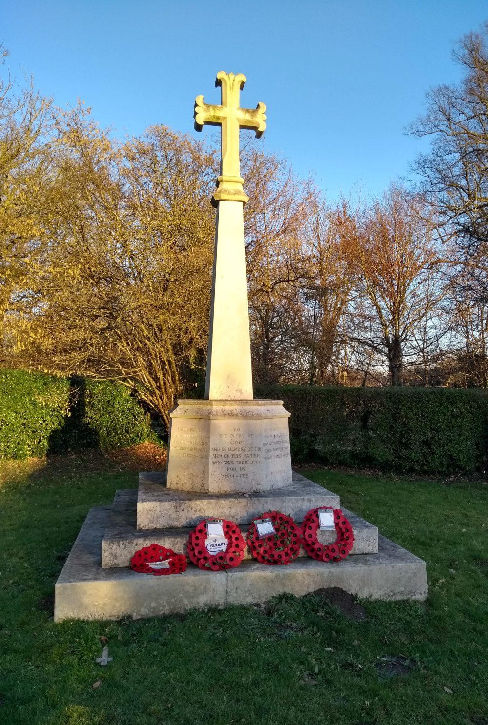World War 1 Memorial outside the church