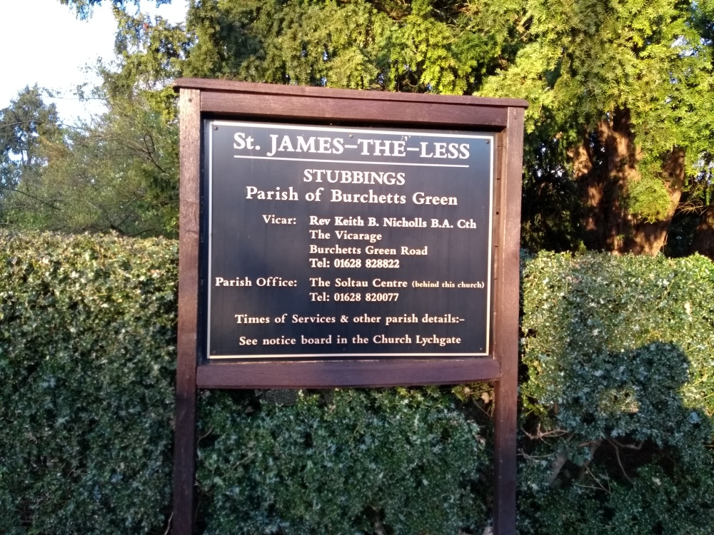 St James-The-Less Church sign