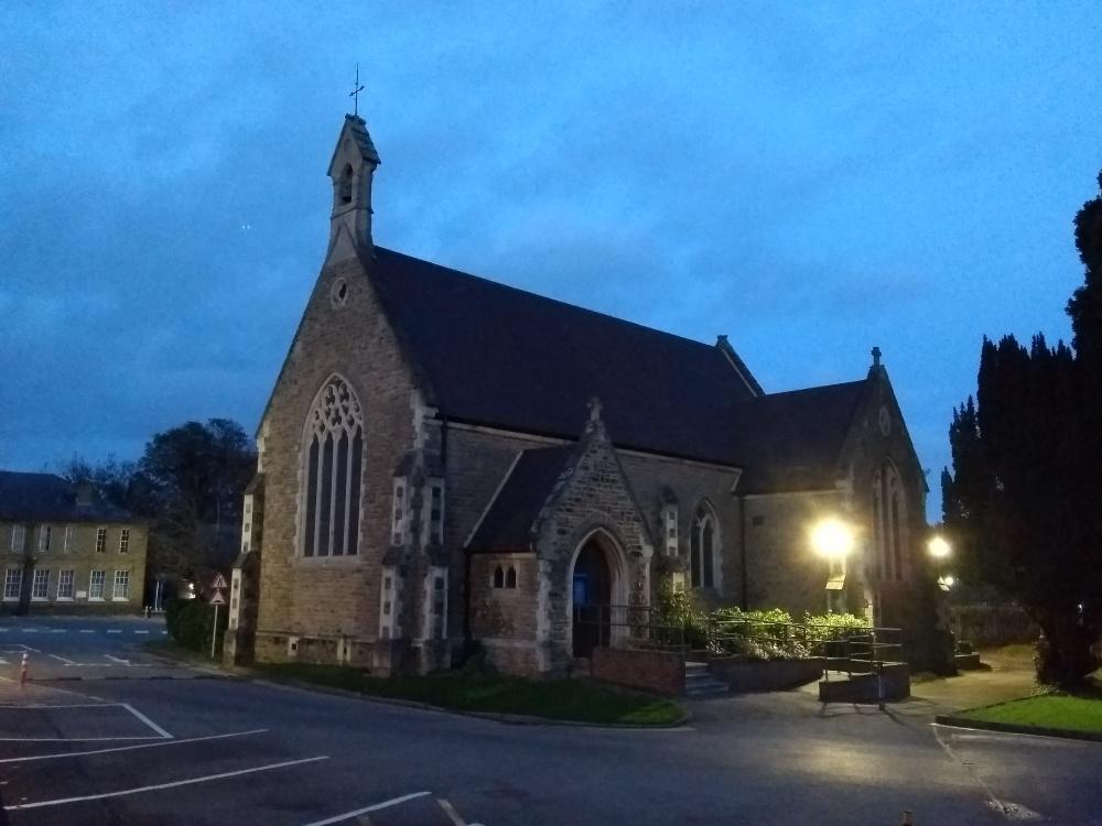 St Marks Hospital Church at dusk