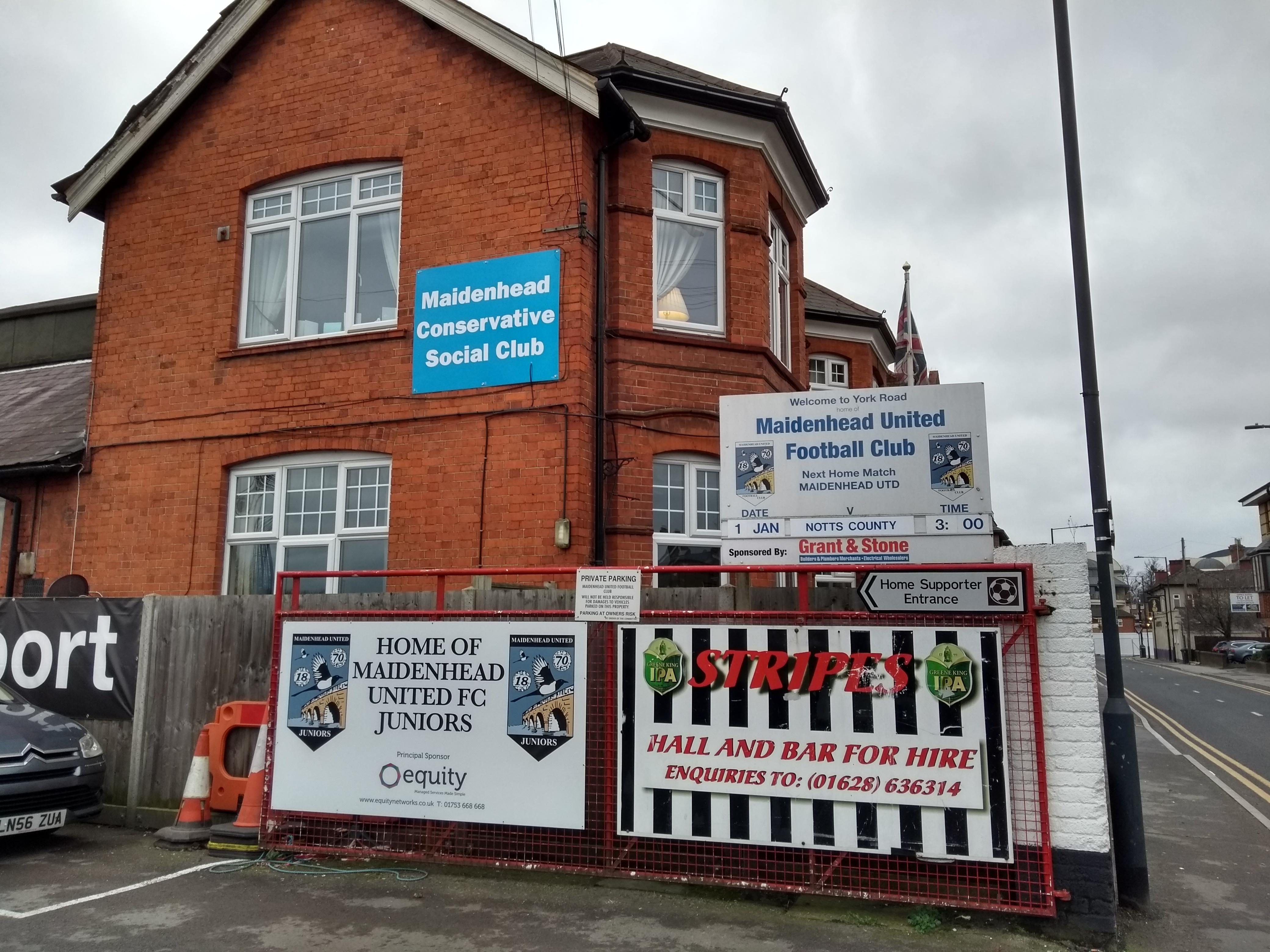 Entrance to Maidenhead United FC